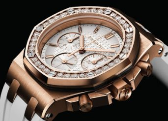 The Diamonds Ladies Fake Audemars Piguet Royal Oak Offshore Chronograph Replica Watch