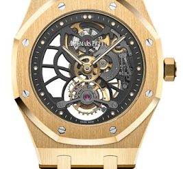 Extra-Thin Openworked Audemars Piguet Royal Oak Tourbillon Watch Replica Ref.26513BA.OO.1220BA.01