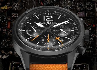 Black PVD Case Bell & Ross BR 126 Blackbird Flyback Chronograph Replica Watch