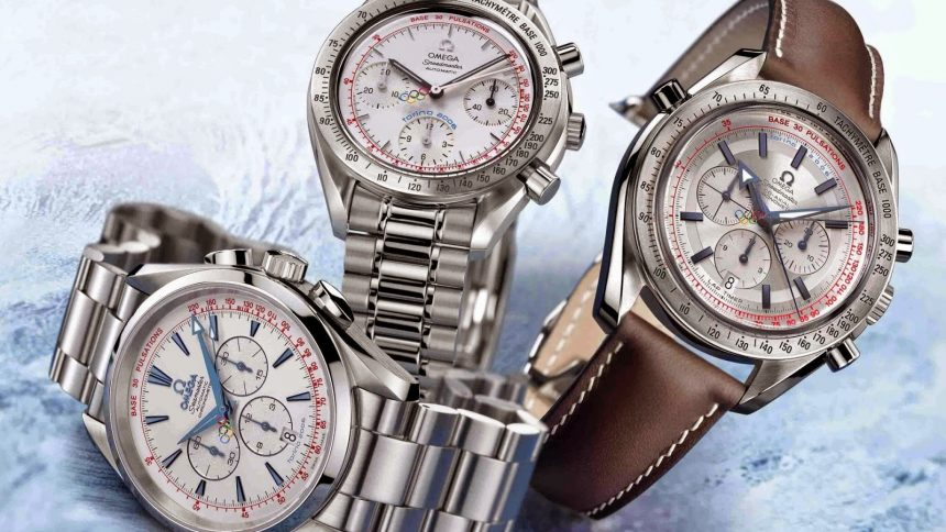 Mens Omega Torino 2006 Chronograph watch replica