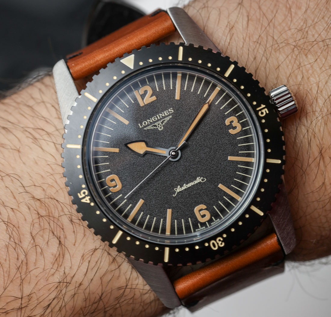 Longines Heritage Skin Diver Watch Hands-On Hands-On