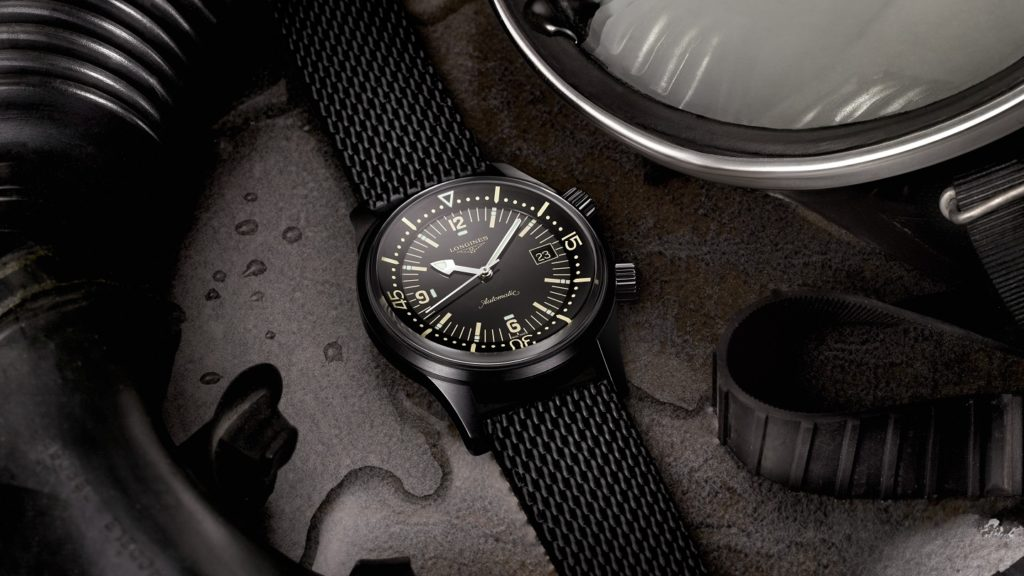 Longines Legend Diver Watch In Black PVD First Look