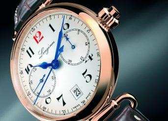 Rose Gold Replica Longines Column-Wheel Single Push-Piece Chronograph Watch
