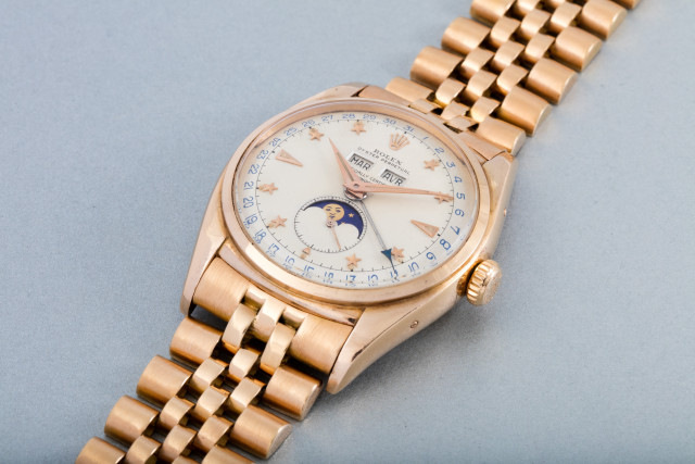 Yellow Gold Rolex Moon-Phases Replica